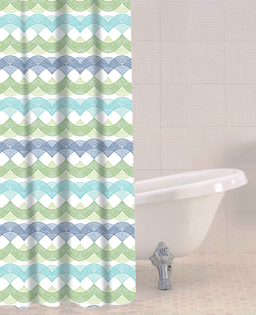 Sabichi Waves peva Shower Curtain- 179623 - Homely Nigeria