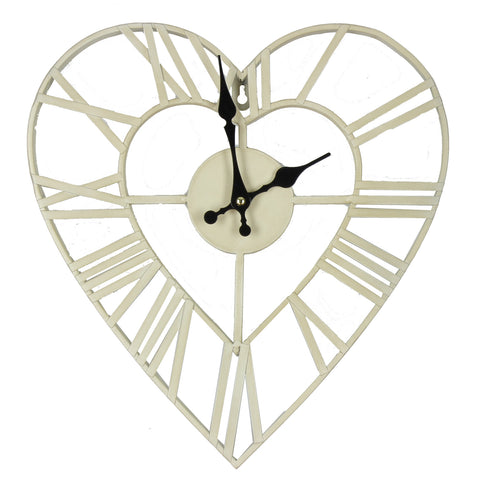 Hometime Metal Heart Shape Wall Clock 34.5cm- W7690