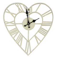 Hometime Metal Heart Shape Wall Clock 34.5cm- W7690 - Homely Nigeria