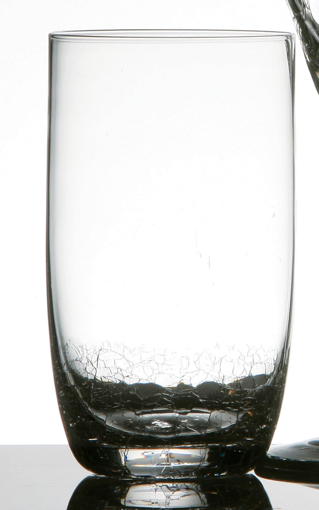 PREMIER SET OF 4 HI BALL GLASSES CLEAR CRACKLE- 1404975