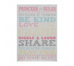 PREMIER KIDS PRINCESS RULES WALL PLAQUE 20 X 28CM- 2800778
