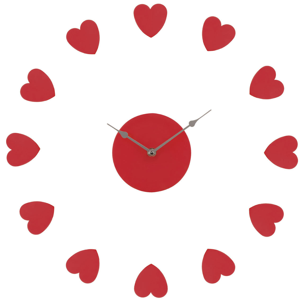 Premier Red Heart Wall Clock 2200627 Homely Ng