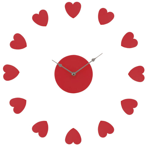 PREMIER RED HEART WALL CLOCK- 2200627