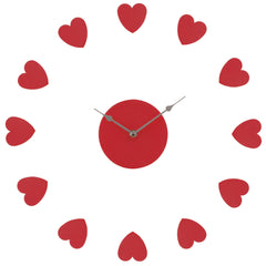 PREMIER RED HEART WALL CLOCK- 2200627 - Homely Nigeria