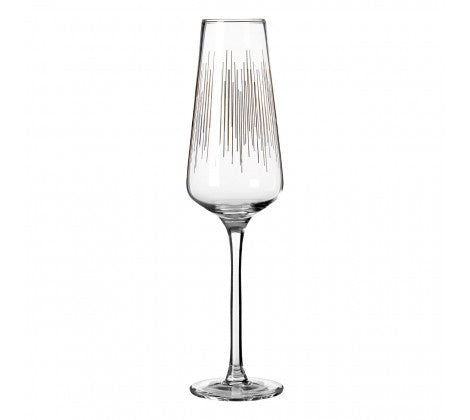 PREMIER DECO S/4 HAND BLOWN CHAMPAGNE GLASSES - 1405274