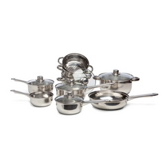 SABICHI 9PC STAINLESS STEEL COOKWARE SET -173652