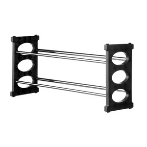 Premier 2 Tier Shoe Rack Black/Chrome-1900280
