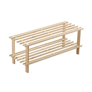 Premier 2 Tier Slatted Shoe Rack