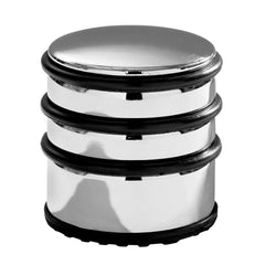 PREMIER CHROME FINISH 1.2KG TALL DOOR STOP W/BLACK - 0509566