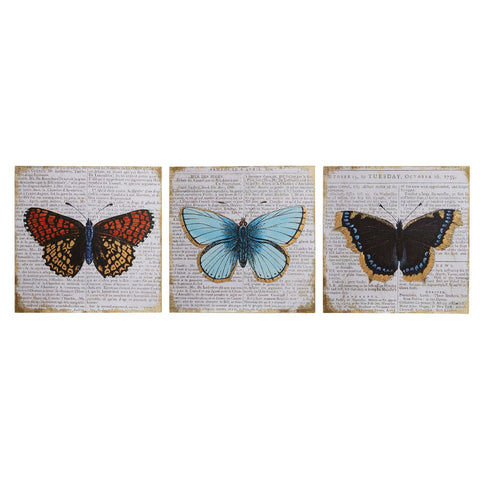 PREMIER S/3 BUTTERFLY WALL PLAQUES 20 X 20CM - 2800751
