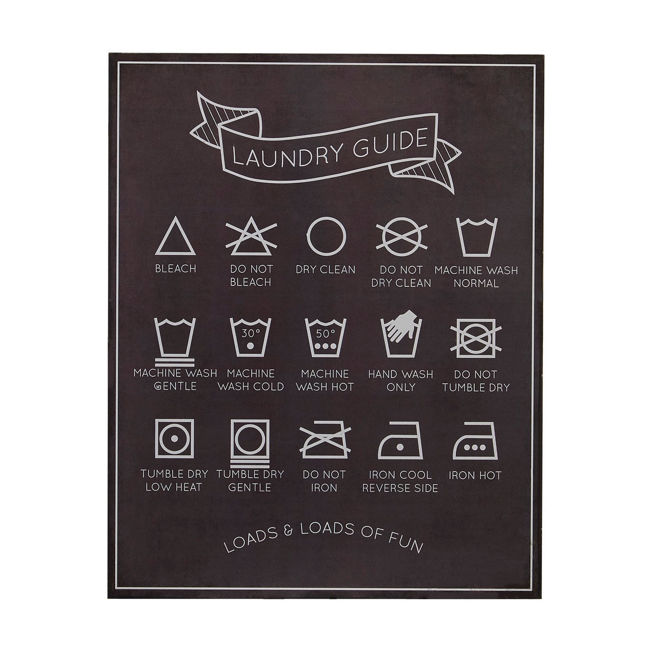 PREMIER LAUNDRY GUIDE WALL PLAQUE 20 X 25CM - 2800763