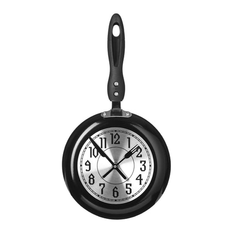 PREMIER 20.5 X 38.5CM FRYING PAN WALL CLOCK