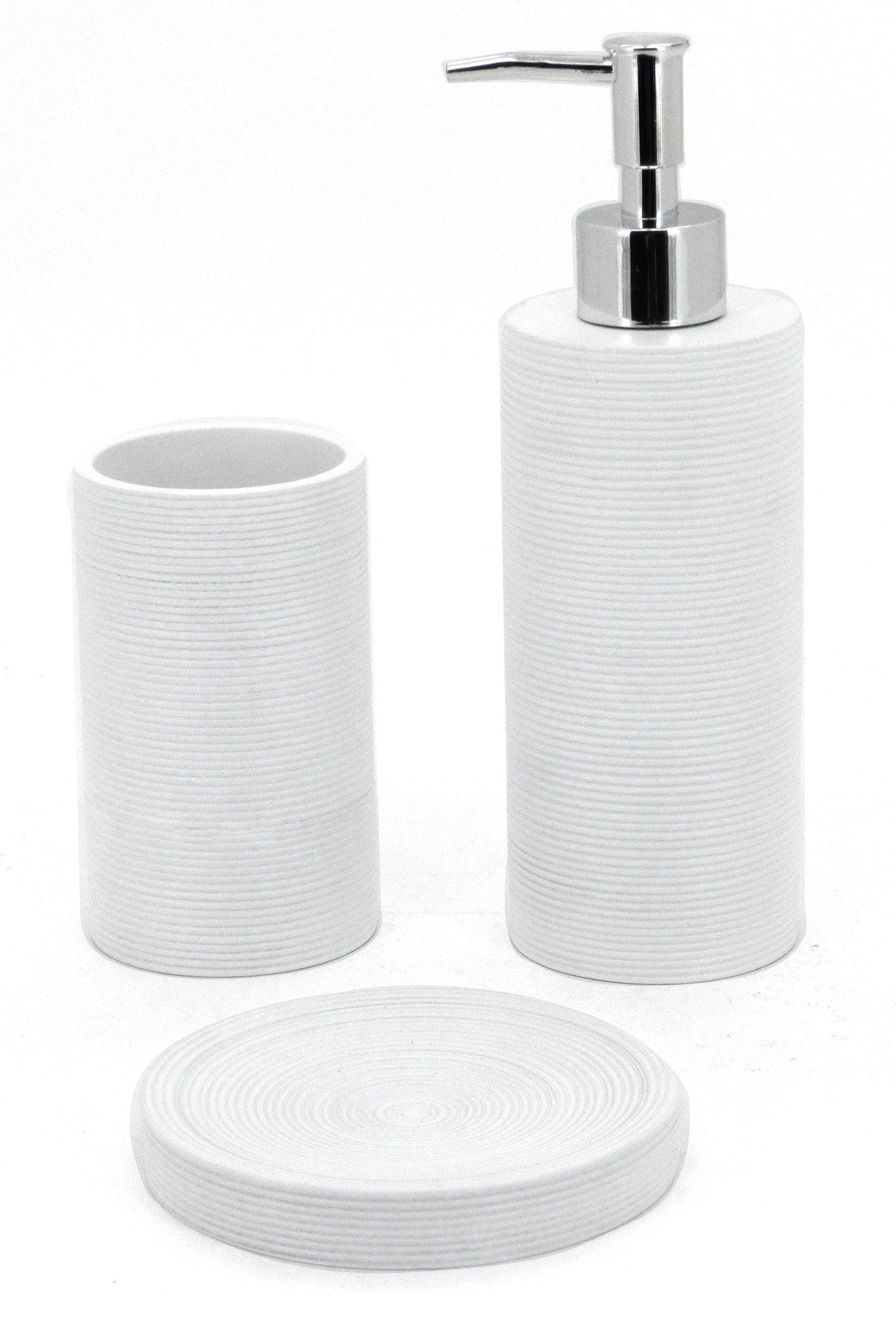 Sabichi White Lines 3pc Accessory Set- 172778 - Homely Nigeria