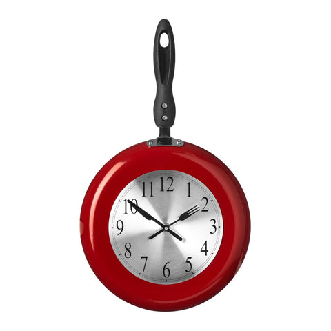 PREMIER 26 X 44CM FRYING PAN WALL CLOCK