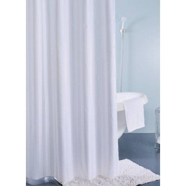Sabichi White Satin Polyester Shower Curtain-165404