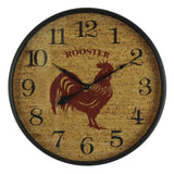 Hometime Rooster Wall Clock - Cork Dial Arabic 30cm -W7684 - Homely Nigeria