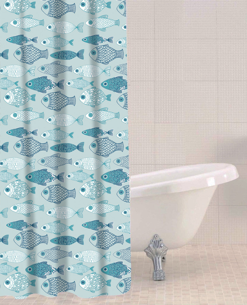 Sabichi Baby Fish Peva Shower Curtain- 179593 - Homely Nigeria