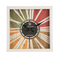 PREMIER 33 X 33CM SQUARE BOND STREET WALL CLOCK - 2200923