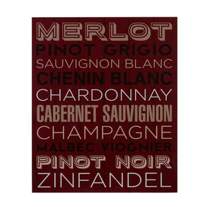 PREMIER WINE LIST WALL PLAQUE 25 X 30CM - 2800764