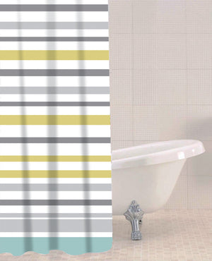 Sabichi Sea Stripe Peva Shower Curtain- 180339 - Homely Nigeria