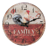 Hometime MDF Round Wall Clock -Family-W9774 - Homely Nigeria