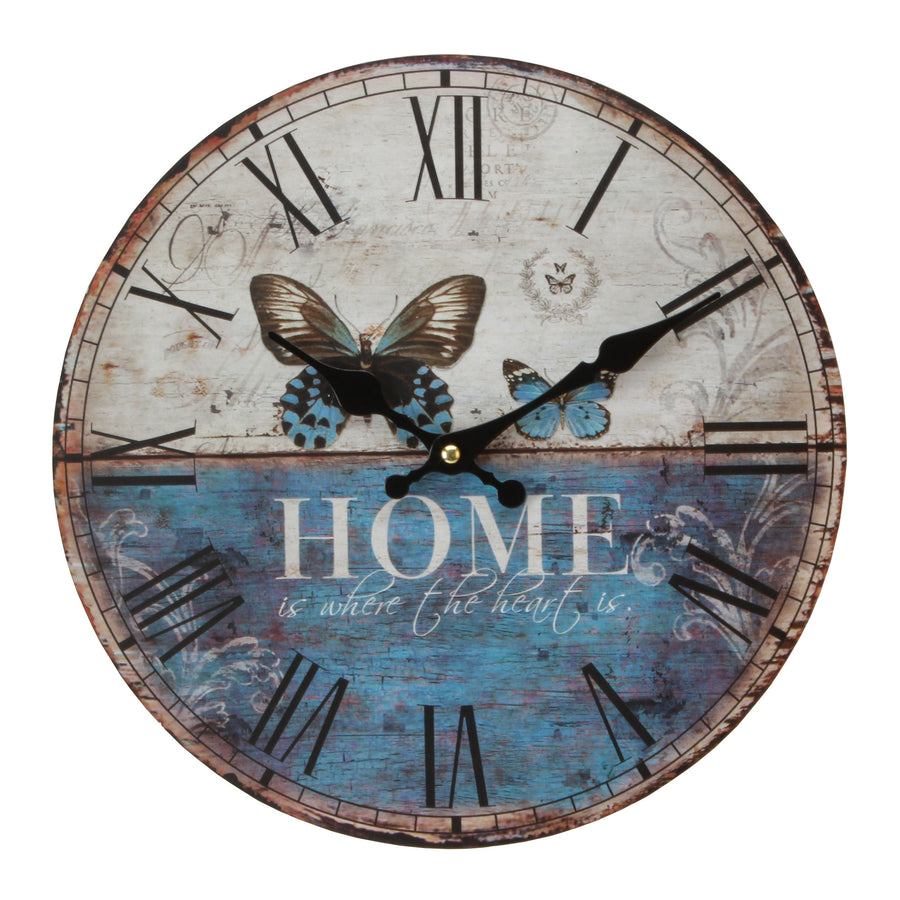 Hometime MDF Round Wall Clock -W9775 - Homely Nigeria