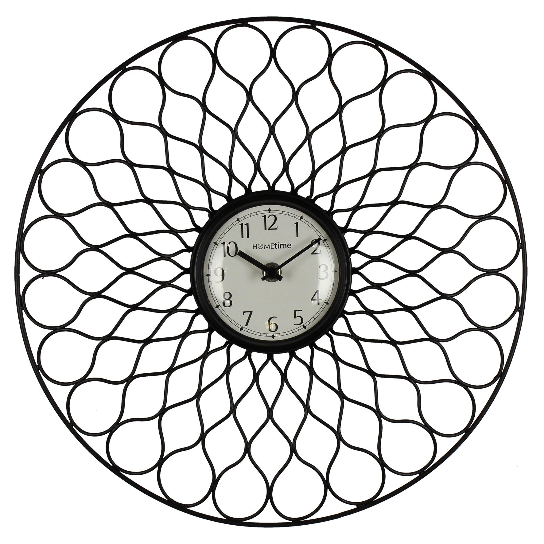 Hometime Round Metal Wall Clock-W7672 - Homely Nigeria
