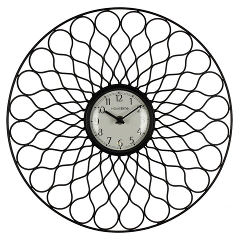 Hometime Round Metal Wall Clock-W7672
