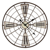 Hometime Wall Clock Metal Frame - Arctic-W7406 - Homely Nigeria