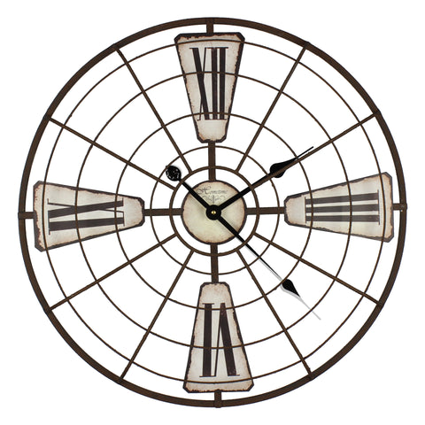 Hometime Wall Clock Metal Frame - Arctic-W7406