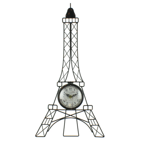 Hometime Wire Eiffel Tower Wall Clock with White Arabic Dial-W7634