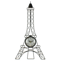 Hometime Wire Eiffel Tower Wall Clock with White Arabic Dial-W7634 - Homely Nigeria