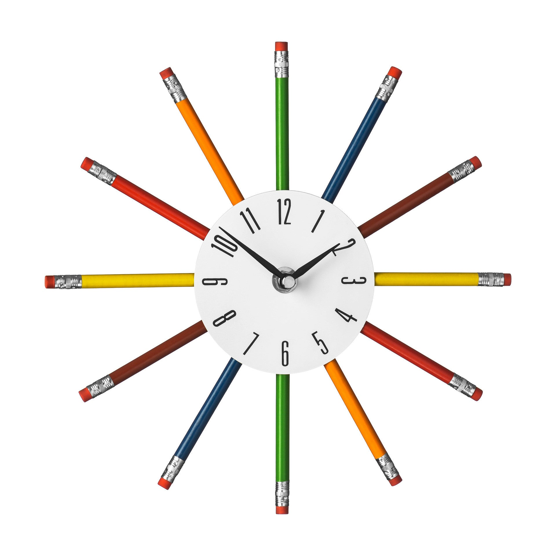 Premier 26cm Dia Multi Colour Pencil Clock-2200894 - Homely Nigeria