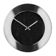 Premier 30cm Dia S/S Wall Clock W/Black Face-2200605 - Homely Nigeria