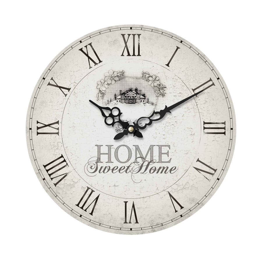Premier 34cm Home Sweet Home MDF Wall Clock-2200542 - Homely Nigeria