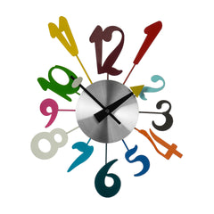 Premier 34X38cm Multi Color Funky Clock-2200891 - Homely Nigeria