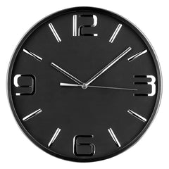 Premier 35cm Dia S/S Wall Clock W/Blk Face-2200599 - Homely Nigeria