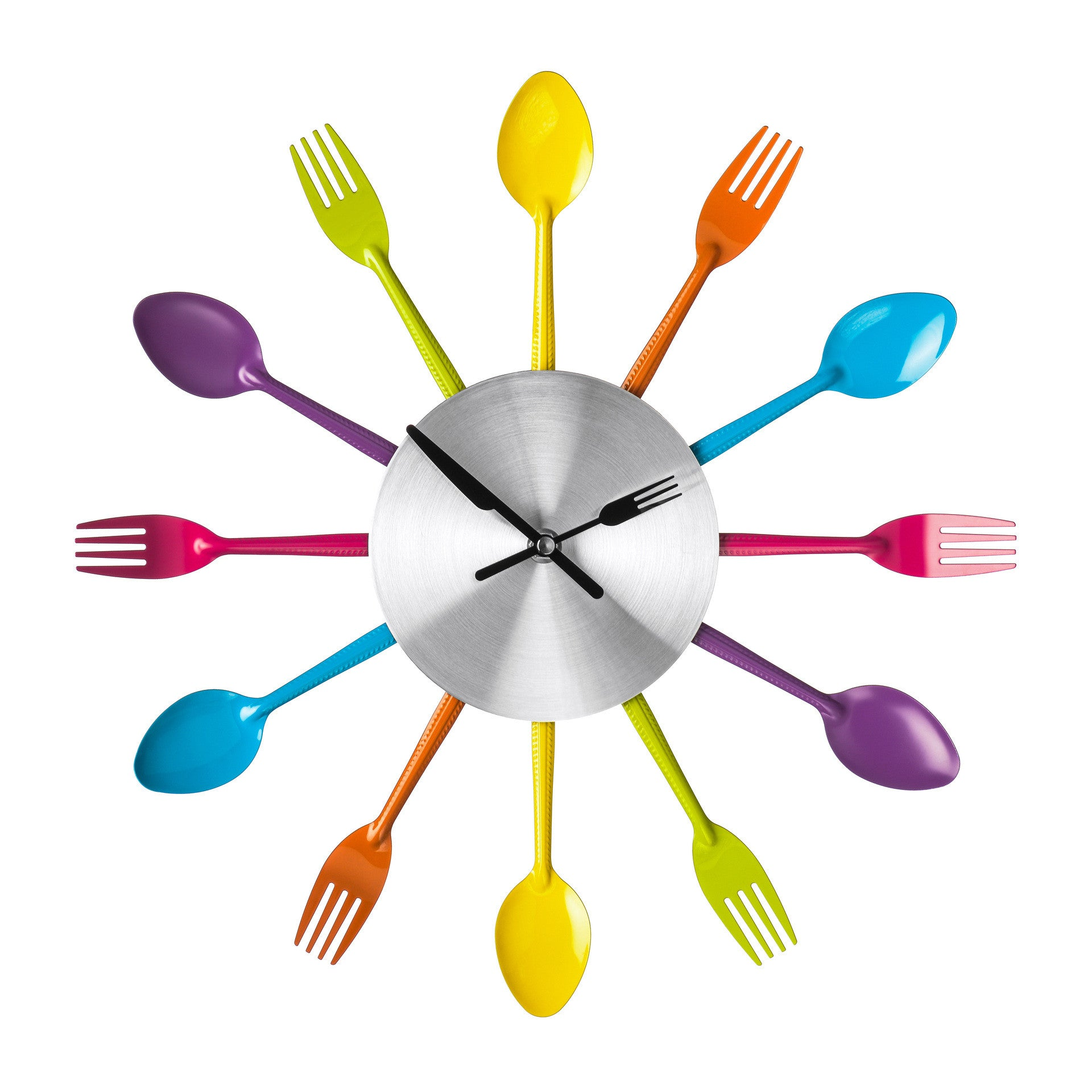 Premier 37cm Diameter Multi Colored Cutlery Wall Clock-2200880 - Homely Nigeria