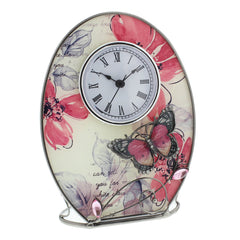 Wm Widdop Sophia Glass & Wire Mantel Clock-629CK - Homely Nigeria