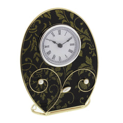 Wm Widdop Sophia Glass & Wire Mantel Clock-631CK - Homely Nigeria