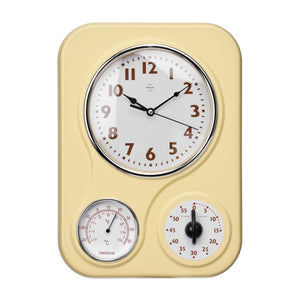 PREMIER 24 X 33.4CM WALL CLOCK WITH TEMPERATURE
