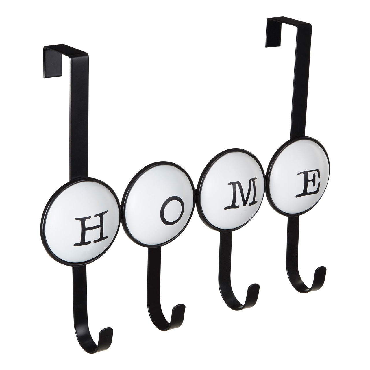 PREMIER HOME 4 HOOK OVER DOOR HANGER BLACK/WHITE - 0509908