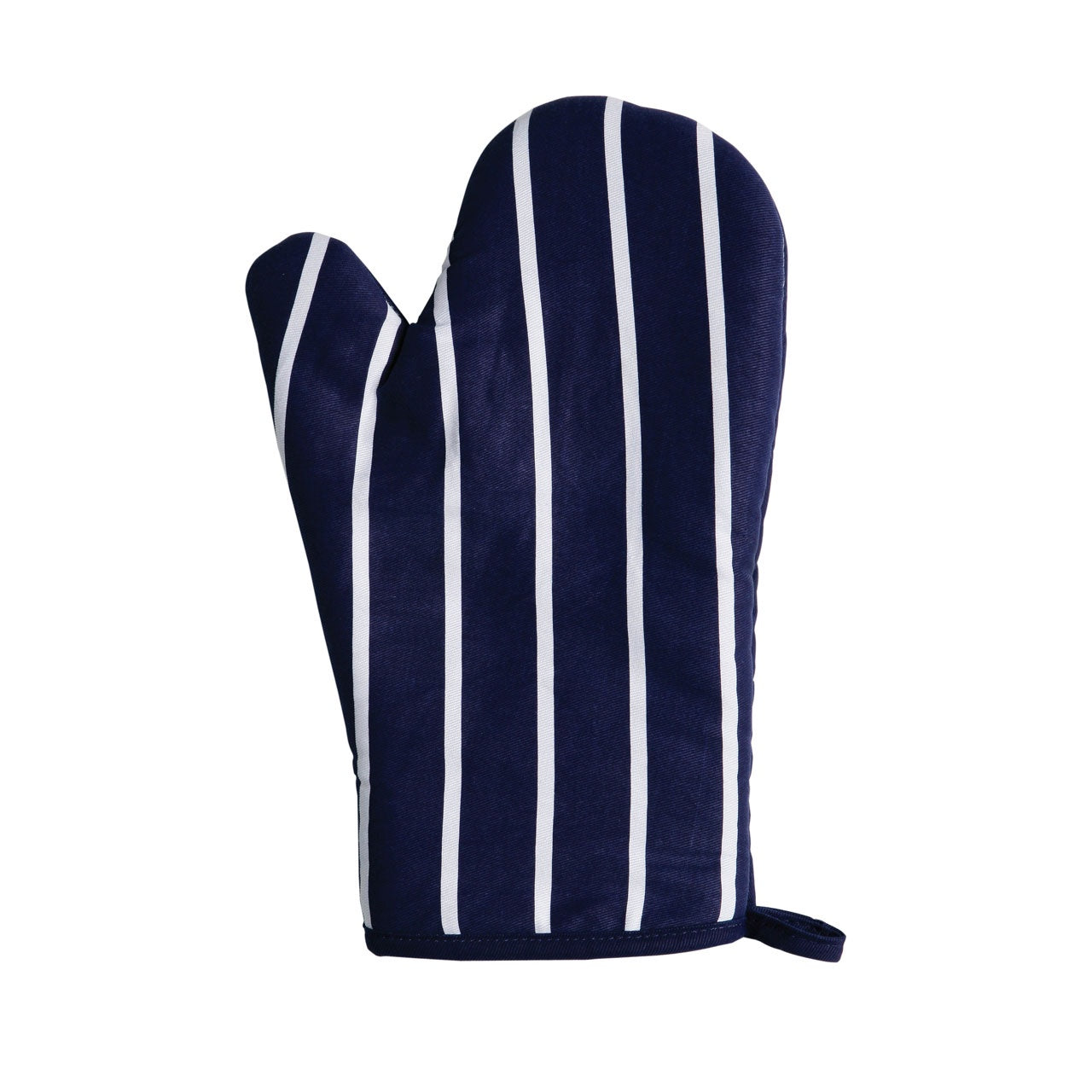 PREMIER SINGLE OVEN GLOVE NAVY BUTCHER STRIPE - 5100062