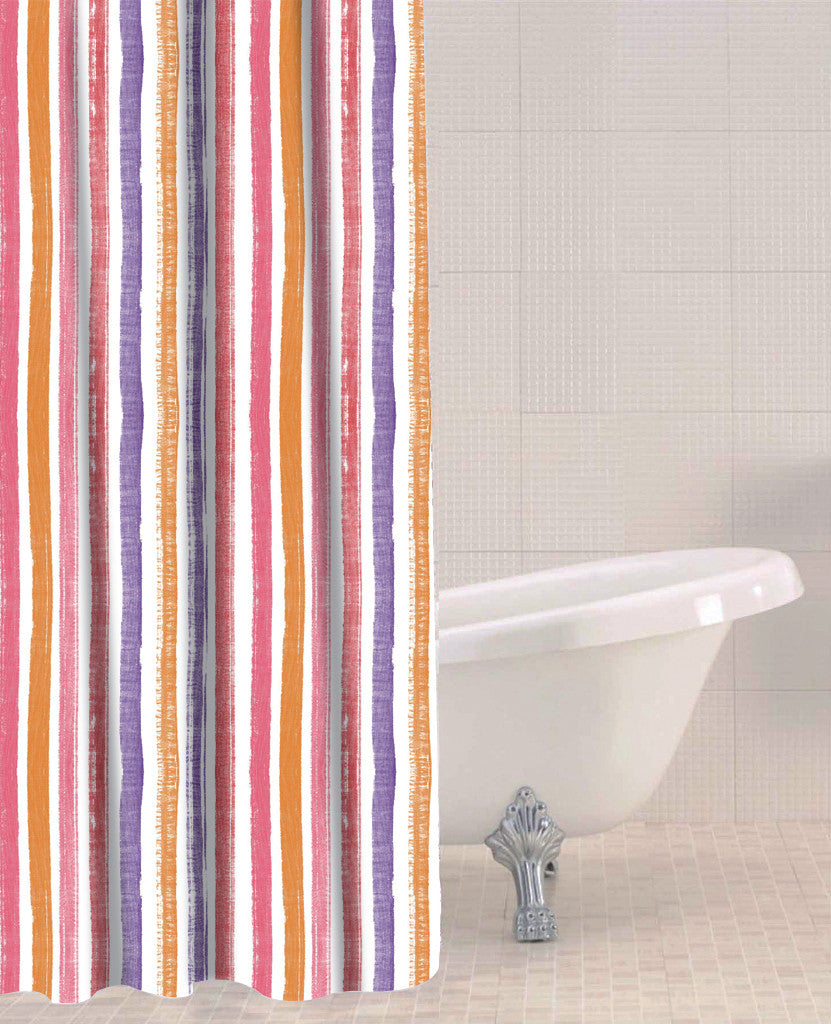 Sabichi Candy Stripe Peva Shower Curtain- 179609 - Homely Nigeria