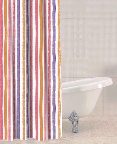 Sabichi Candy Stripe Peva Shower Curtain- 179609