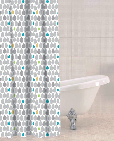 Sabichi Rain Drops Peva Shower Curtain- 180346