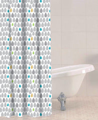 Sabichi Rain Drops Peva Shower Curtain- 180346 - Homely Nigeria