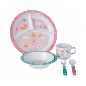 PREMIER MIMO KIDS 5PC BELLA BALLERINA MELAMINE DINNER SET - 1206329