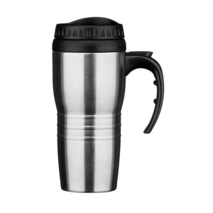 PREMIER 450ML S/S AND PLASTIC TRAVEL MUG (12PC D - 1405129