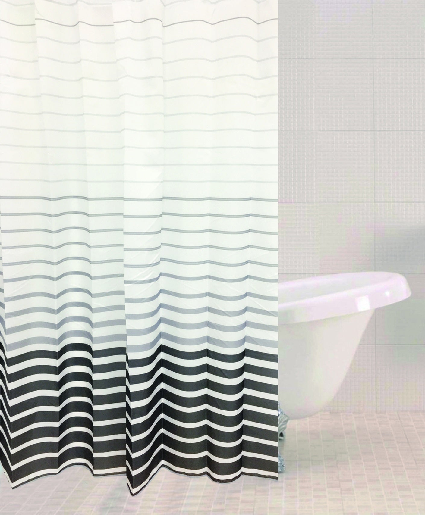 Sabichi Smoke Stripe Shower Curtain - 179456